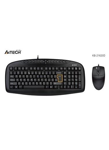 A4 TECH Kb-21620D Siyah  Q Usb Mm Klv+2X Opt.Mouse Siyah